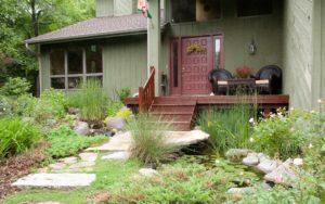 koi pond backyard water feature